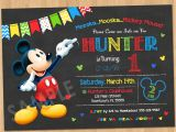 Mickey Mouse Customized Birthday Invitations Mickey Mouse Birthday Invitation Mickey Mouse Clubhouse