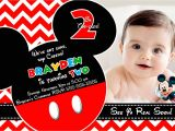 Mickey Mouse Customized Birthday Invitations Mickey Mouse Party Invitations Personalized Mickey Mouse