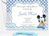 Mickey Mouse Invitations Baby Shower Baby Mickey Mouse Baby Shower Invitations Printed by