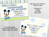 Mickey Mouse Invitations Baby Shower Baby Mickey Mouse Invitation Set Envelopes Birthday