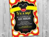 Mickey Mouse Invitations Baby Shower Mickey Mouse Baby Shower Invitations Boy Baby Shower