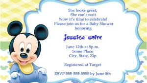 Mickey Mouse Invitations Baby Shower Mickey Mouse Baby Shower Invitations Cartes De Remerciements