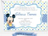 Mickey Mouse Invitations Baby Shower Printed Baby Mickey Mouse Baby Shower Invitations Baby