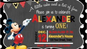Mickey Mouse Party Invitation Template 31 Mickey Mouse Invitation Templates Free Sample