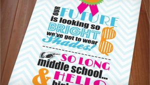 Middle School Graduation Party Invitations 80 39 S Bright Shades Graduation Party Printable Invitation