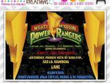 Mighty Morphin Power Ranger Birthday Invitations 457 Diy Masquerade Party Invitation Thank You Card