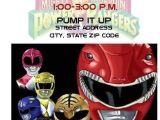 Mighty Morphin Power Ranger Birthday Invitations 8 Custom original Power Rangers Birthday Party Ticket
