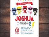 Mighty Morphin Power Ranger Birthday Invitations Power Ranger Invitations Power Rangers Birthday Power