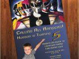 Mighty Morphin Power Ranger Birthday Invitations Power Rangers Birthday Invitation Mighty by Adrianmariedesigns