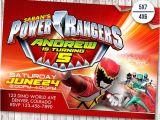 Mighty Morphin Power Ranger Birthday Invitations Power Rangers Invitation Power Ranger Birthday Party Dino