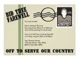 Military Going Away Party Invitation Templates Going Away Party Wording Ideas Just B Cause