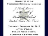 Military Wedding Invitation Wording Samples Custom Listing J K Brown Military Promotion Invitations