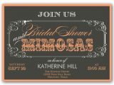 Mimosa Bridal Shower Invitations Mimosas Script Bridal Shower Invitations