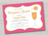 Mimosa themed Bridal Shower Invitations Monogram and Mimosas Printable Invitation Wedding Bridal