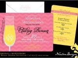Mimosa themed Bridal Shower Invitations Nealon Design Mimosas & Monograms — Bridal Shower Invitation