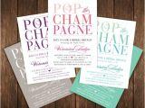 Mimosa themed Bridal Shower Invitations Pop the Champagne Bridal Shower Invitations Mimosa Brunch