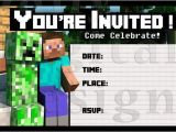 Minecraft Birthday Party Invitations Templates Free 1000 Images About Minecraft Everything On Pinterest