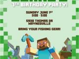 Minecraft Birthday Party Invitations Templates Free 50 Best Images About Minecraft Party On Pinterest
