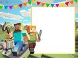 Minecraft Birthday Party Invitations Templates Free Free Printable Minecraft Birthday Invitation Template