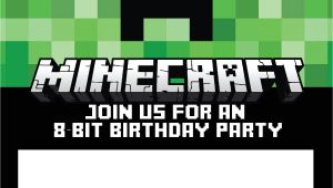 Minecraft Party Invitation Template 40th Birthday Ideas Minecraft Birthday Invitation
