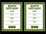 Minecraft Party Invitations Printable Free Minecraft Printables