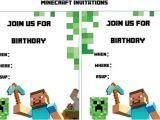Minecraft Party Invitations Printable Minecraft Birthday Invitation Printable Free