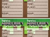 Minecraft Party Invitations Printable Up Cycled & Printable Treasures Minecraft Party Printables