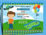 Miniature Golf Birthday Party Invitations Free Printable Mini Golf Invitations