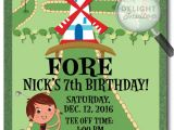 Miniature Golf Birthday Party Invitations Mini Golf Birthday Invitations Di 380 Harrison