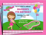 Miniature Golf Birthday Party Invitations Mini Golf Birthday Party Invitations Dolanpedia