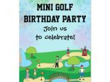 Miniature Golf Birthday Party Invitations Mini Miniature Golf Birthday Party Invitations Zazzle