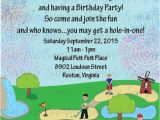 Miniature Golf Birthday Party Invitations Mini Miniature Golf Kids Birthday Party Invitation Printable