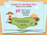 Miniature Golf Birthday Party Invitations Miniature Golf Birthday Party Invitation Girls