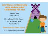 Miniature Golf Birthday Party Invitations Miniature Golf Golfing Birthday Party Invitations by