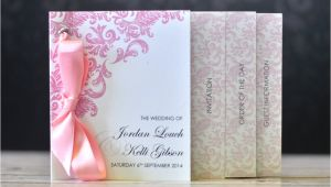 Minibook Wedding Invitations Mini Book Wedding Invitation Damask