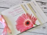 Minibook Wedding Invitations Mini Book Wedding Invitation Pale Pink Gerbera