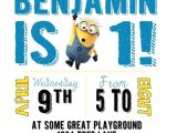 Minion Birthday Party Invitations Templates Diy Design Den Minion Birthday Party with Free Printables