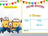 Minion Birthday Party Invitations Templates Free Printable Minion Birthday Invitation Templates