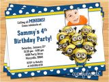 Minion Birthday Party Invitations Templates Minion Birthday Party Invitations Ideas Drevio