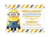 Minion Birthday Party Invites Free Printable Minion Birthday Party Invitations Ideas