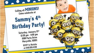 Minion Birthday Party Invites Free Printable Minion Birthday Party Invitations Ideas
