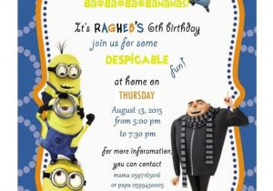 Minion Birthday Party Invites How to Create Minion Birthday Party Invitations Designs
