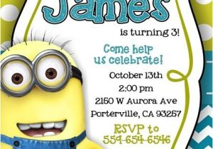 Minion Birthday Party Invites Minion Despicable Me Birthday Party Ideas Pink Lover