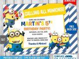 Minion Birthday Party Invites Minions Birthday Invitation 7 by Templatemansion On