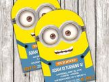 Minion Party Invitations Uk Minion Invitation Despicable Me Birthday Party Diy