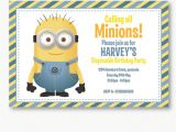 Minion Party Invitations Uk Personalised Minion Invitation Beyond the Ink