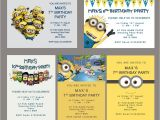 Minion Party Invitations Uk Personalised Minion Kids Birthday Party Invitations