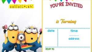 Minions Birthday Invitation Template Updated Bunch Of Minion Birthday Party Invitations Ideas