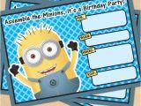 Minions Party Invites Free Printable Despicable Me Minion Birthday Invitation
