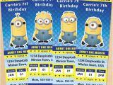 Minions Party Invites Free Printable Despicable Me Minion Ticket Invitations